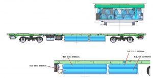 Hydrogen T car storage configuration 2 002